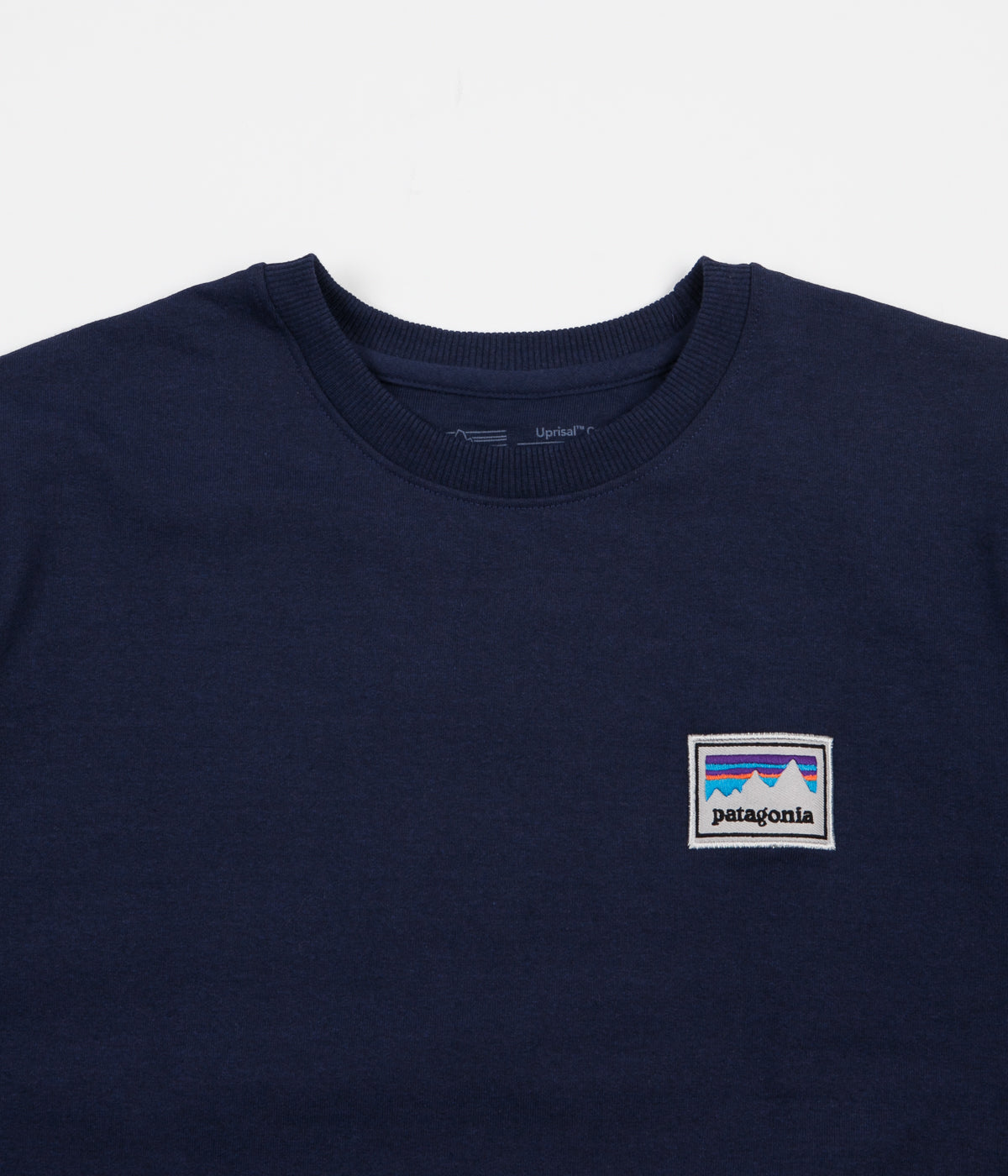 Patagonia Shop Sticker Patch Uprisal Crewneck Sweatshirt - Classic Navy