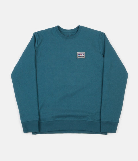 Patagonia Shop Sticker Patch Uprisal Crewneck Sweatshirt - Tasmanian Teal