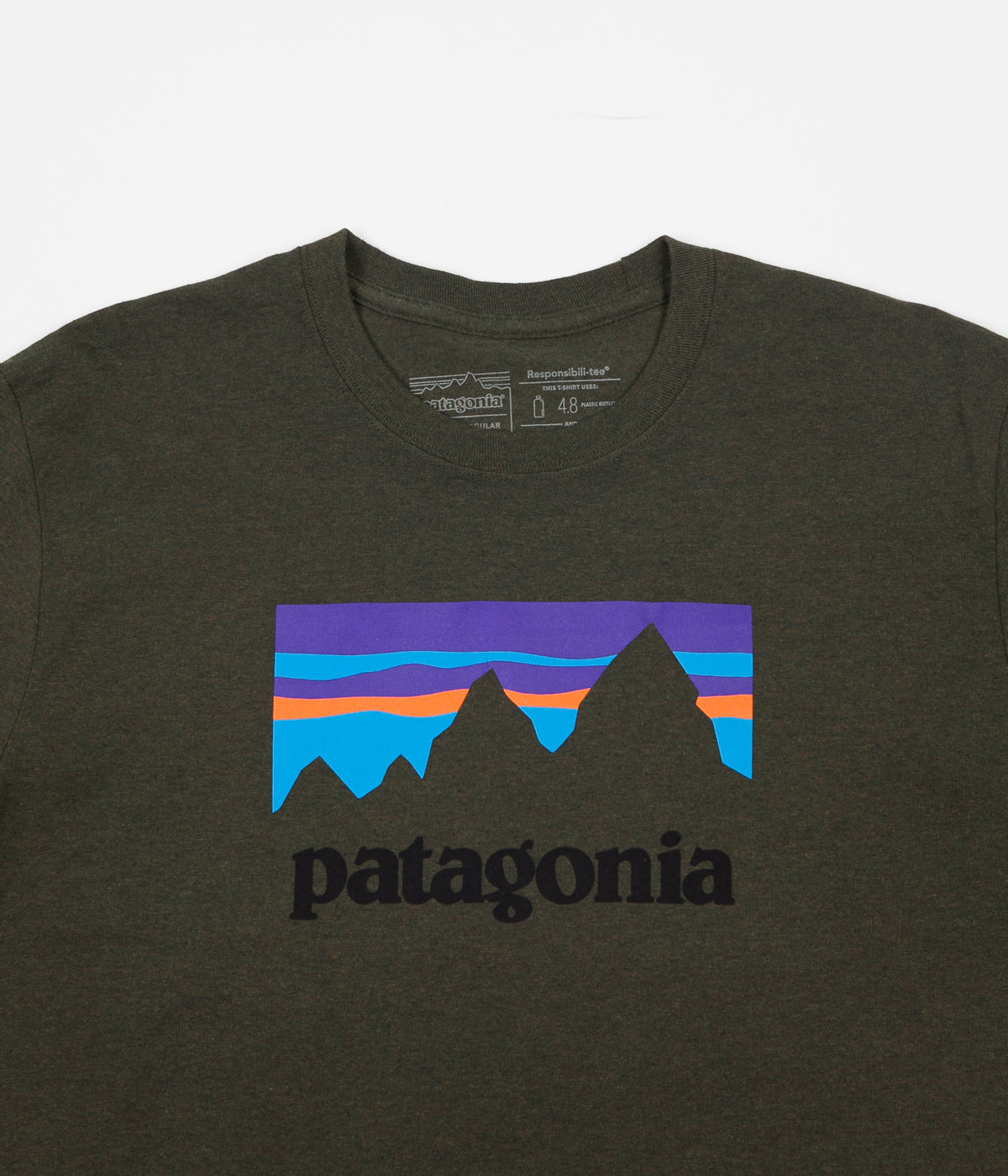 Patagonia Shop Sticker Responsibili-Tee Long Sleeve T-Shirt - Sediment