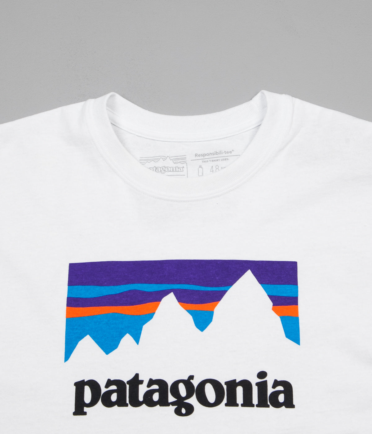 Patagonia Shop Sticker Responsibili-Tee Long Sleeve T-Shirt - White