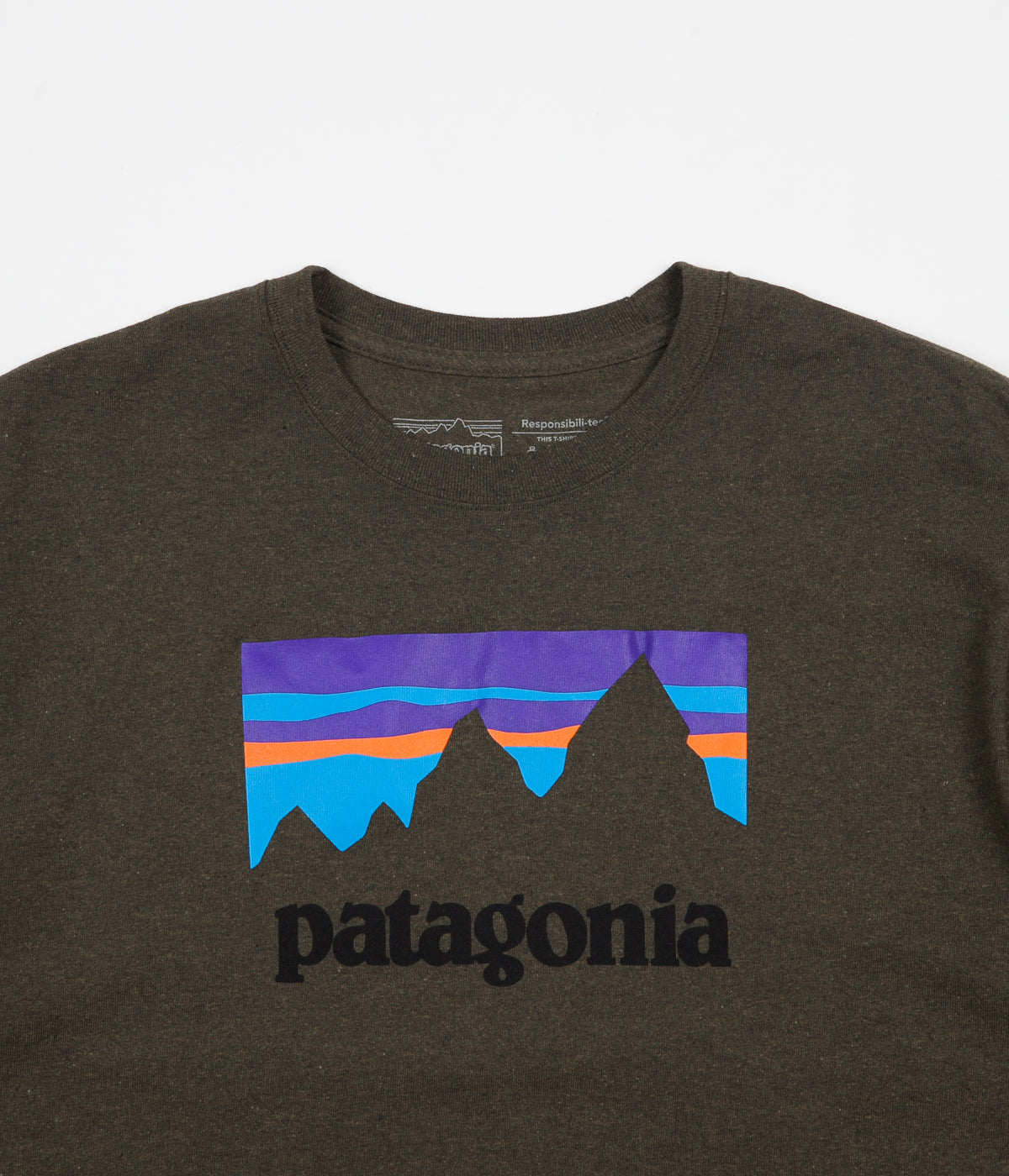 Patagonia Shop Sticker Responsibili-Tee T-Shirt - Sediment