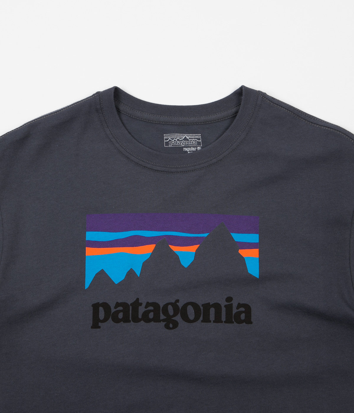 Patagonia Shop Sticker T-Shirt - Smolder Blue