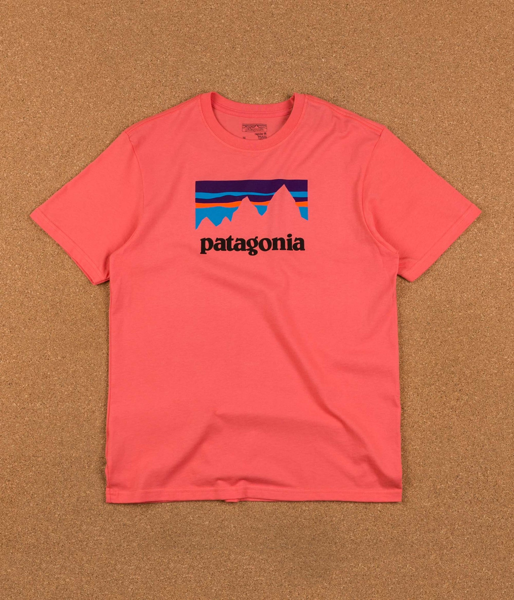Patagonia Shop Sticker T-Shirt - Spiced Coral