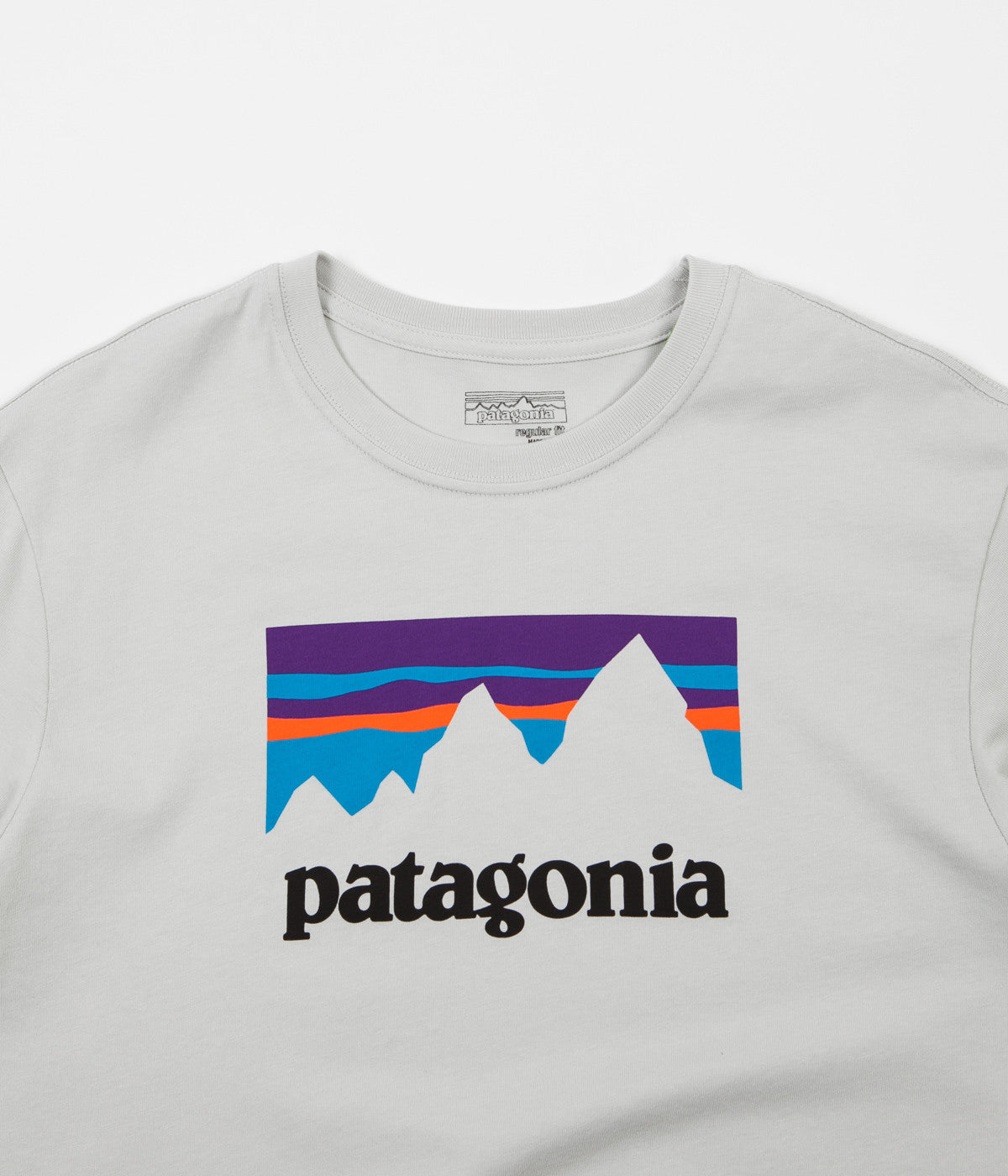 Patagonia Shop Sticker T-Shirt - Tailored Grey