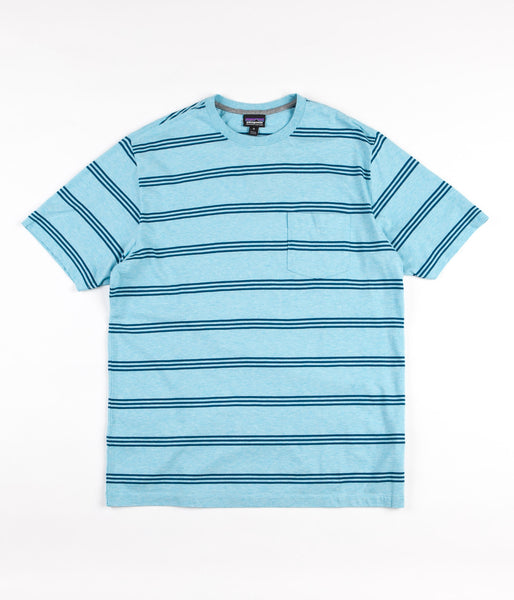 Patagonia Squeaky Clean Pocket T-Shirt - Branch Creek / Cuban Blue