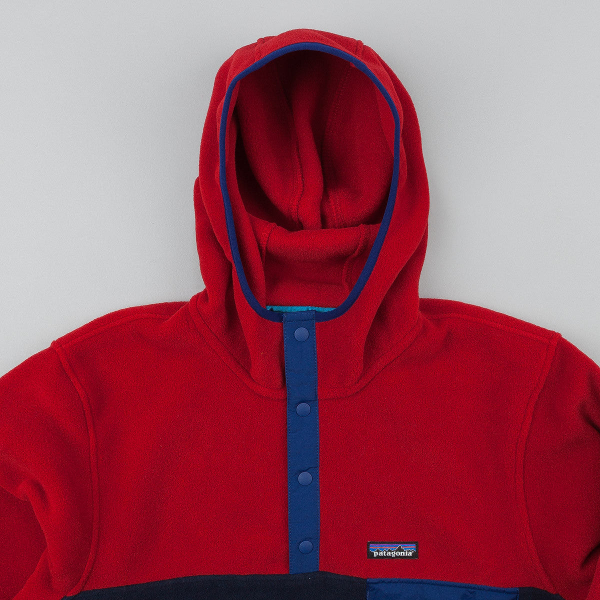 Patagonia Synchilla Snap-T Hooded Fleece - Navy Blue