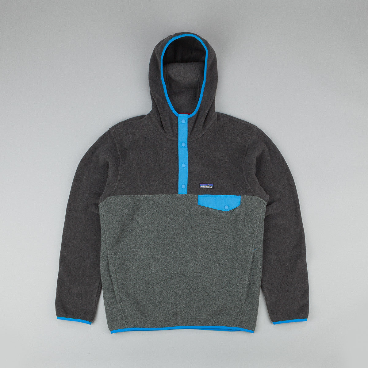 Patagonia Synchilla Snap-T Hooded Fleece - Nickel / Forge Grey