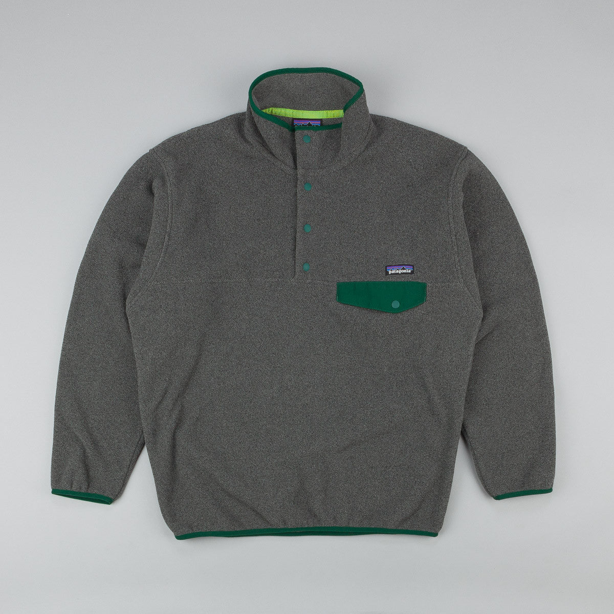 Patagonia Synchilla Snap-T Pullover Fleece - Nickel / Hunter Green