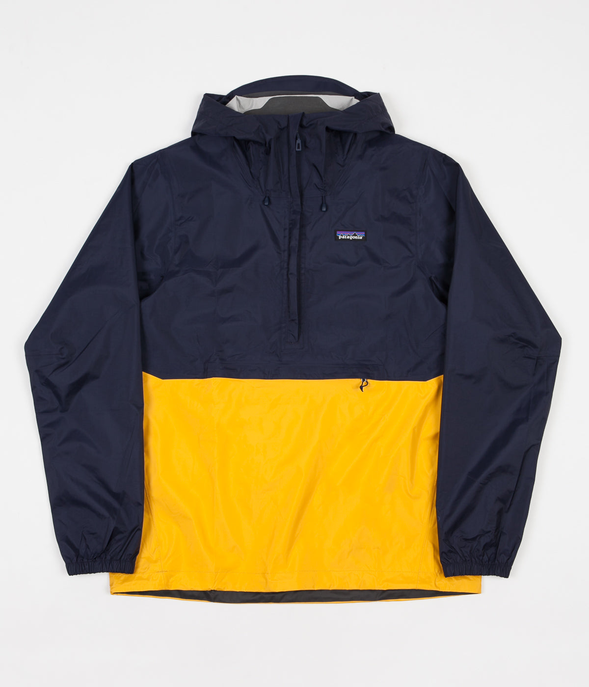 Patagonia TORRENTSHELL - Impermeable - navy blue/rugby yellow FhPX4E2xrU