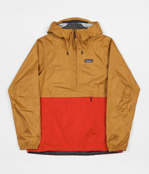 Patagonia Torrentshell Pullover Jacket - Oaks Brown / Fire
