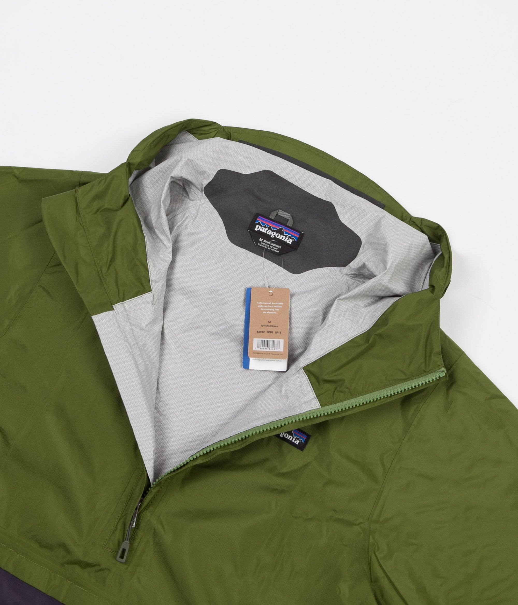 ... Patagonia Torrentshell Pullover Jacket - Sprouted Green ... 06eb1ed51