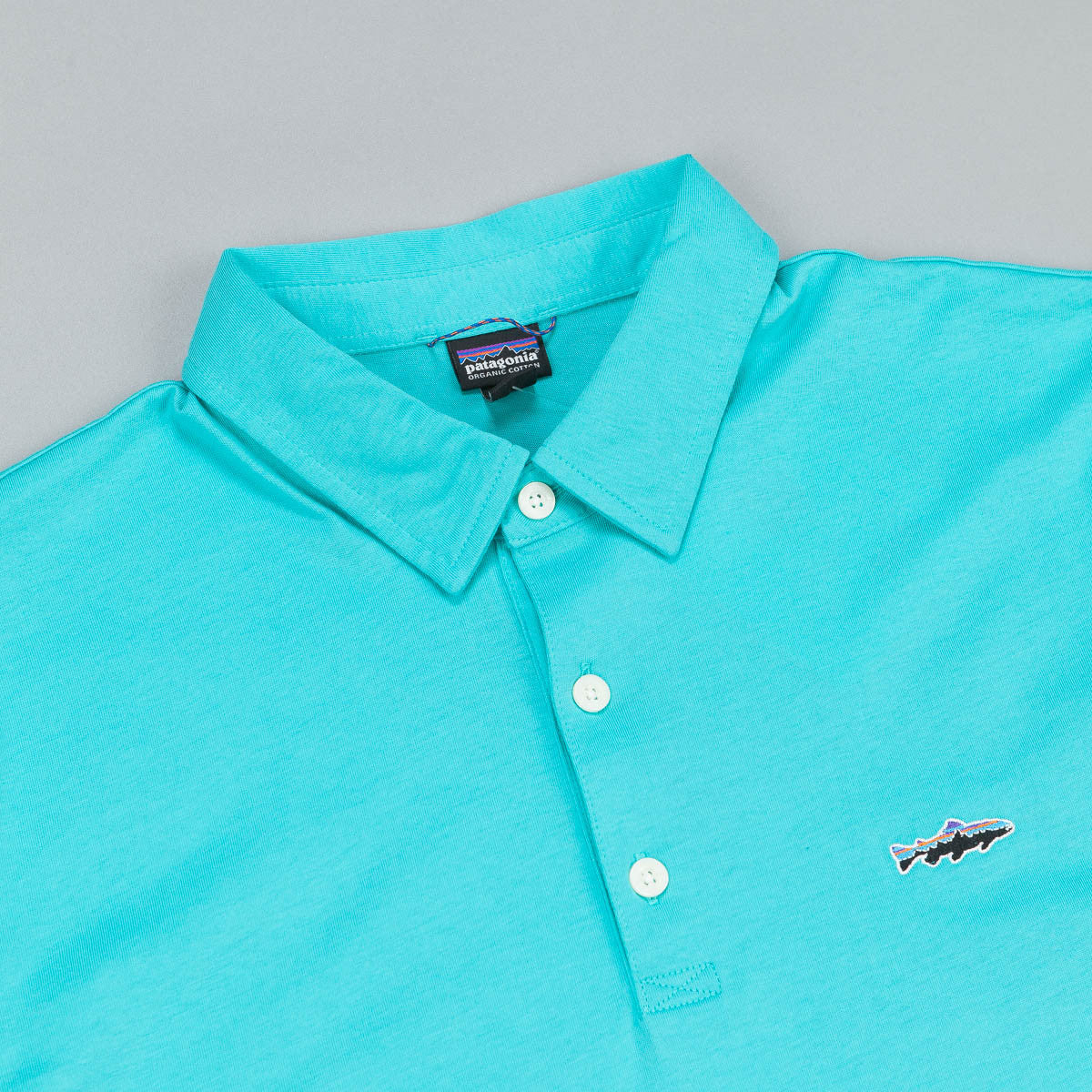 Patagonia Trout Fitz Polo Shirt - Howling Turquoise
