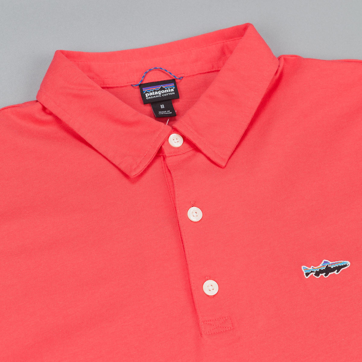 Patagonia Trout Fitz Polo Shirt - Shock Pink