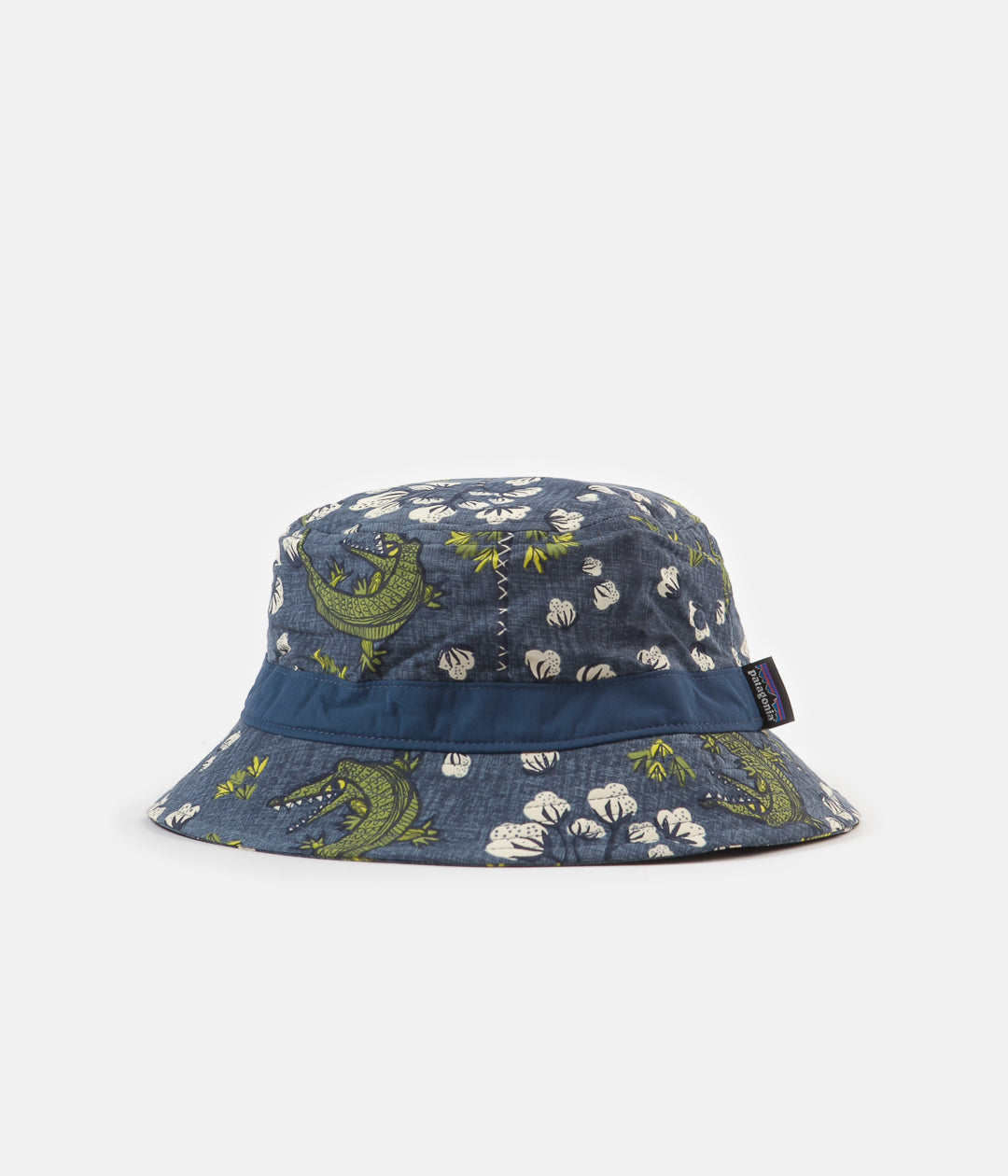 Patagonia Wavefarer Bucket Hat - Cotton Ball Gators: Dolomite Blue