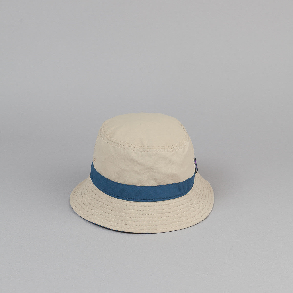 Patagonia Wavefarer Bucket Hat - El Cap Khaki w/ Glass Blue