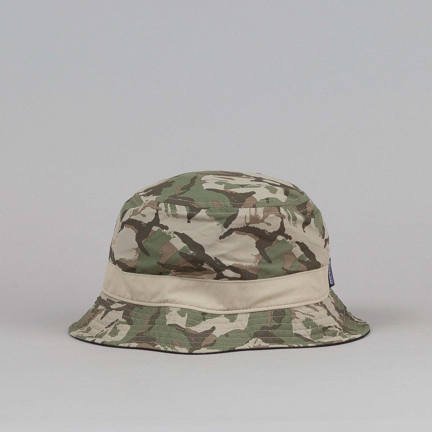 Patagonia Wavefarer Bucket Hat - Painted Camo Camp Green