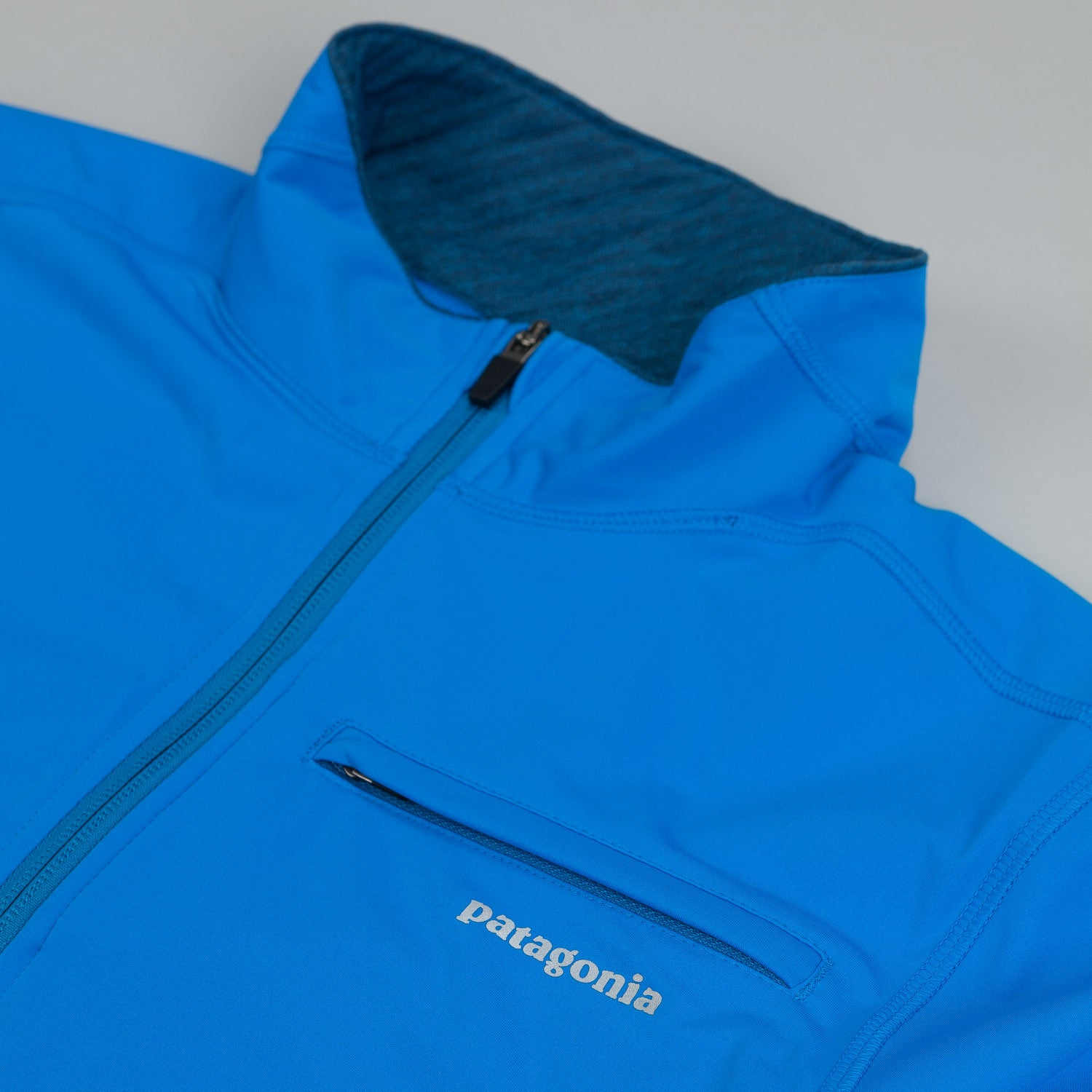 Patagonia Wind Shield Hybrid Soft Shell Jacket Andes Blue