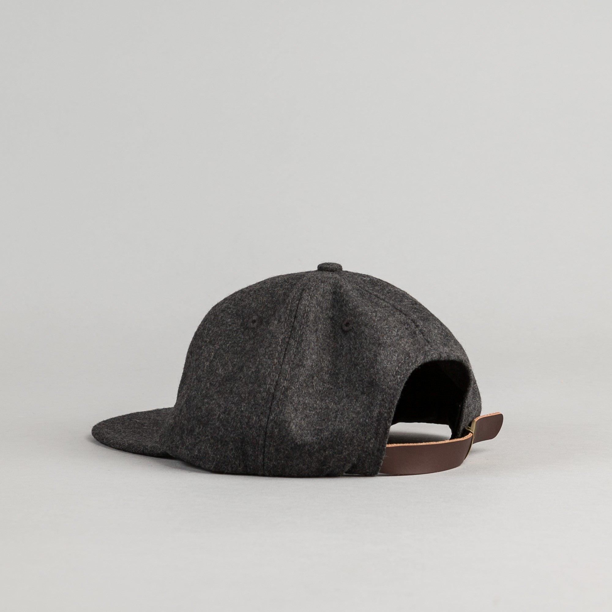 Paterson Brushed Wool Club Cap - Charcoal
