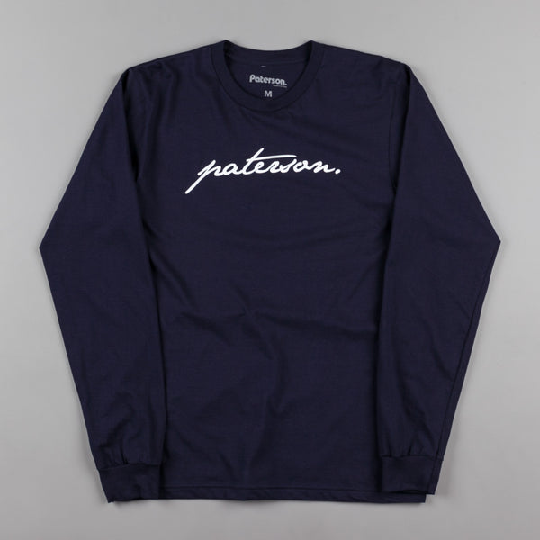 Paterson Trademark Long Sleeve T-Shirt - Navy