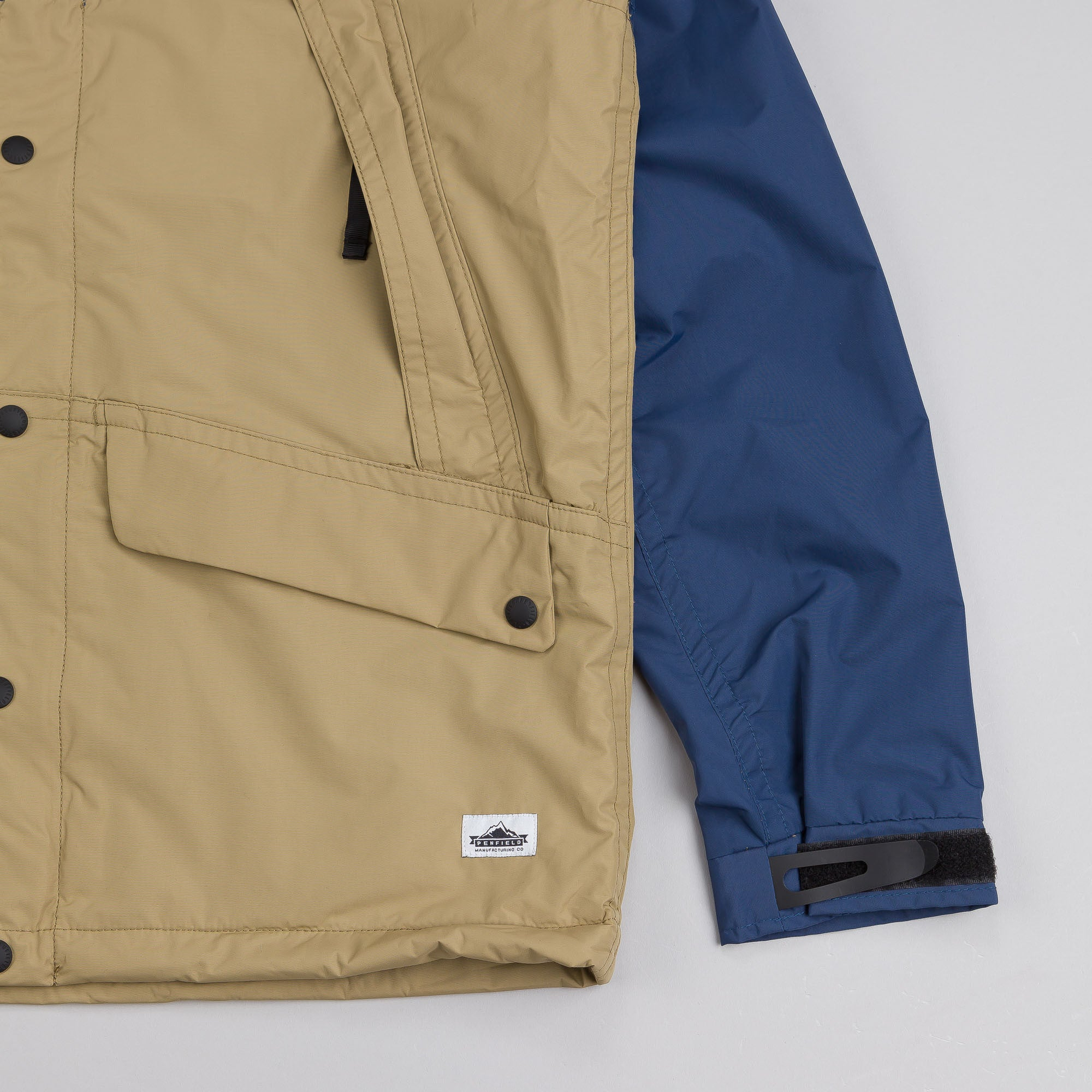 Penfield Clarkdale Hooded Shell Jacket Petrol / Khaki