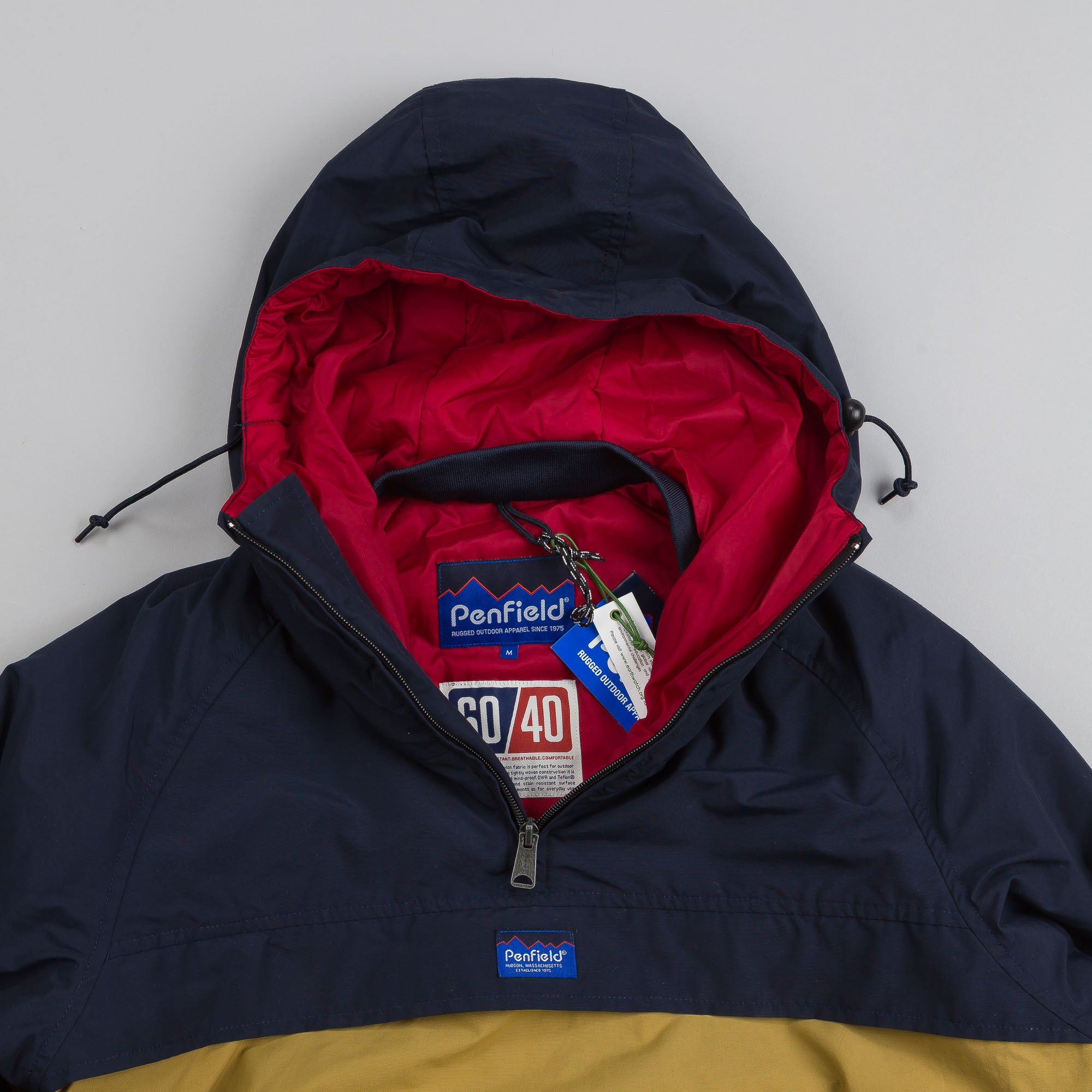 Penfield ELK Pullover Hooded Anorak Navy / Tan