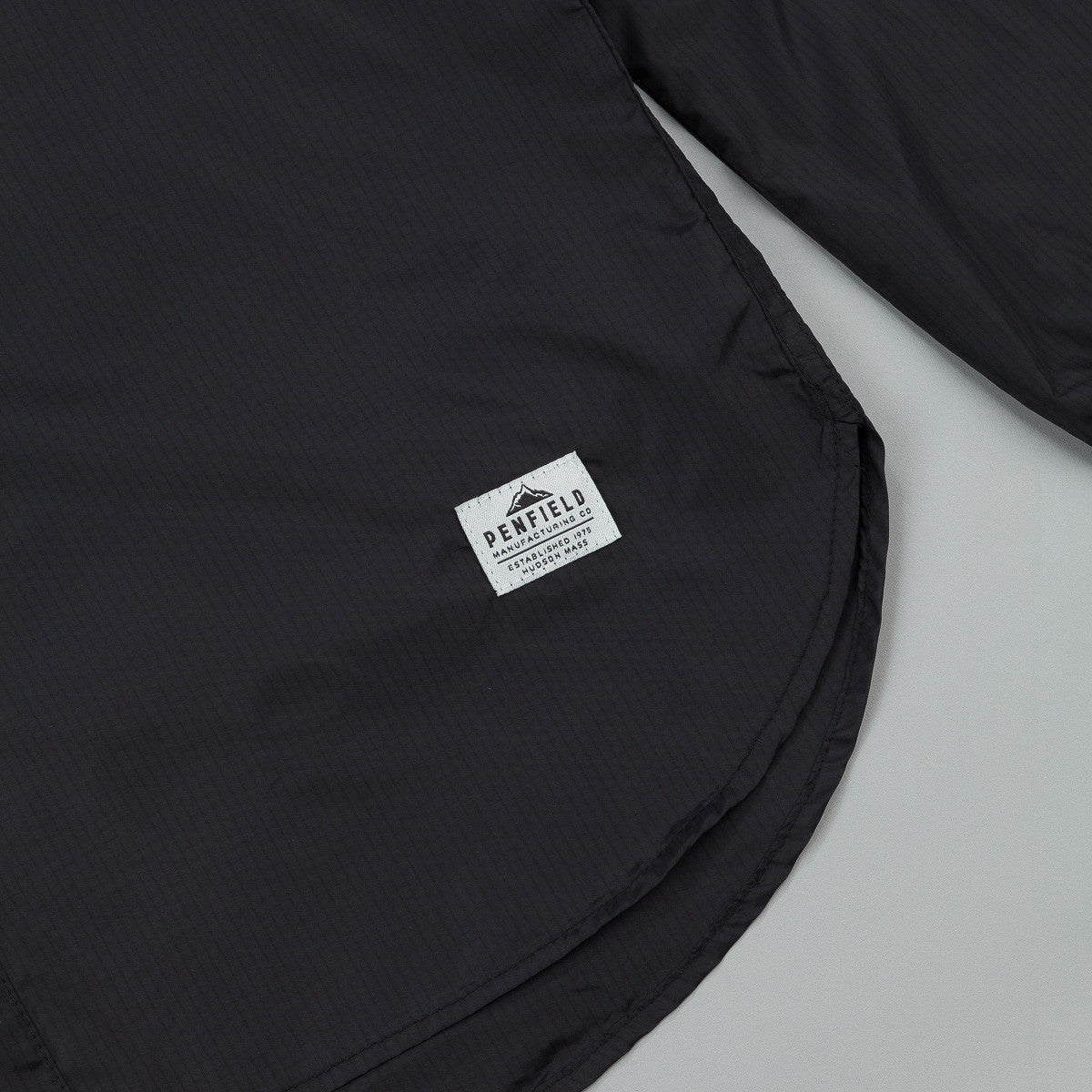 Penfield Fallowfield Ripstop Nylon Packable Hooded Shirt - Black