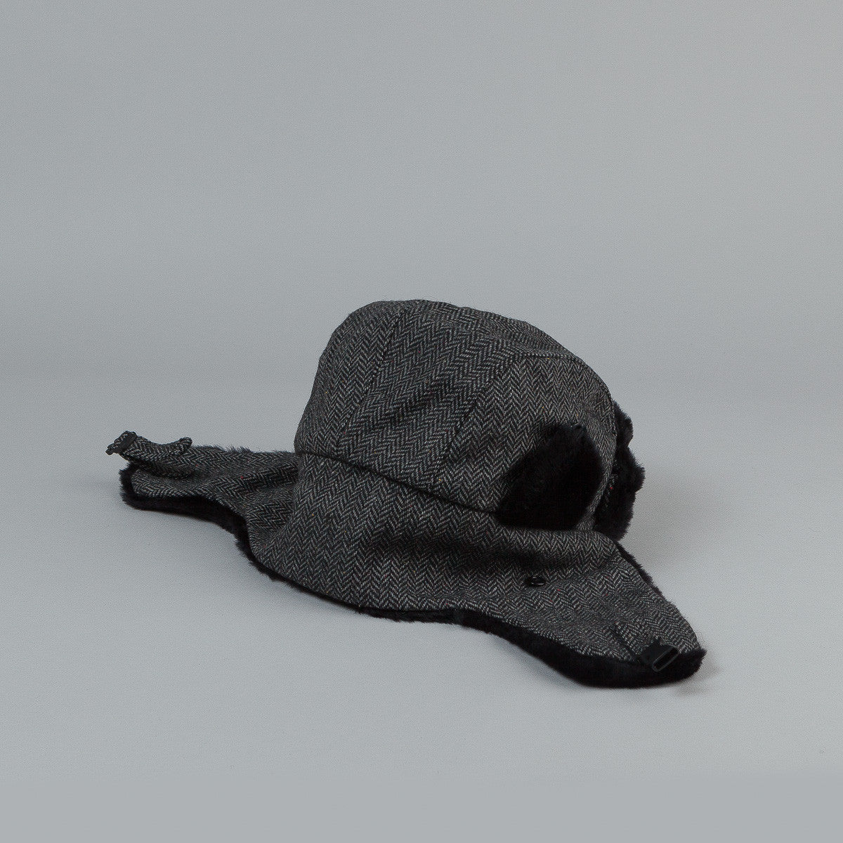 Penfield Providence Trapper Hat - Black Tweed