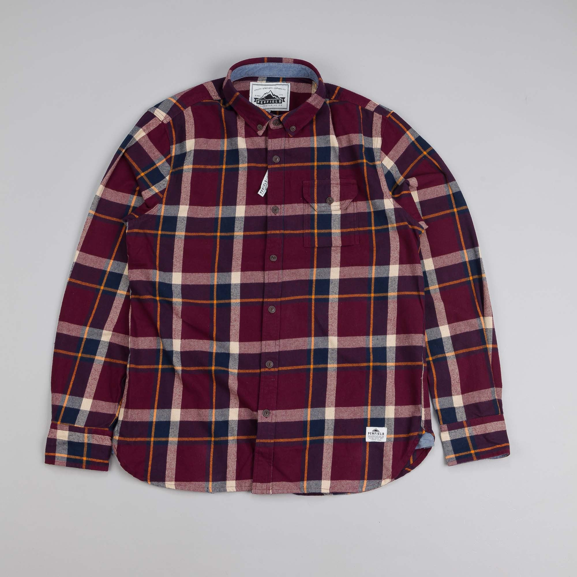 Penfield Rutherford Shirt Burgundy