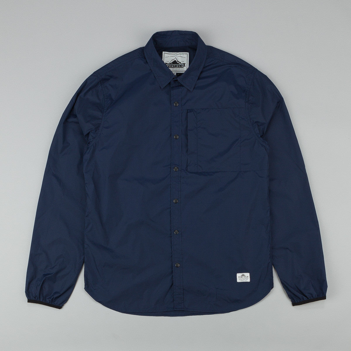Penfield Underfield Ripstop Nylon Packable Shirt - Navy