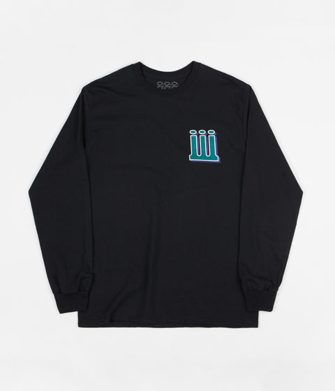 Piilgrim Structure Long Sleeve T-Shirt - Black / Green