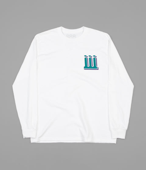 Piilgrim Structure Long Sleeve T-Shirt - White / Green