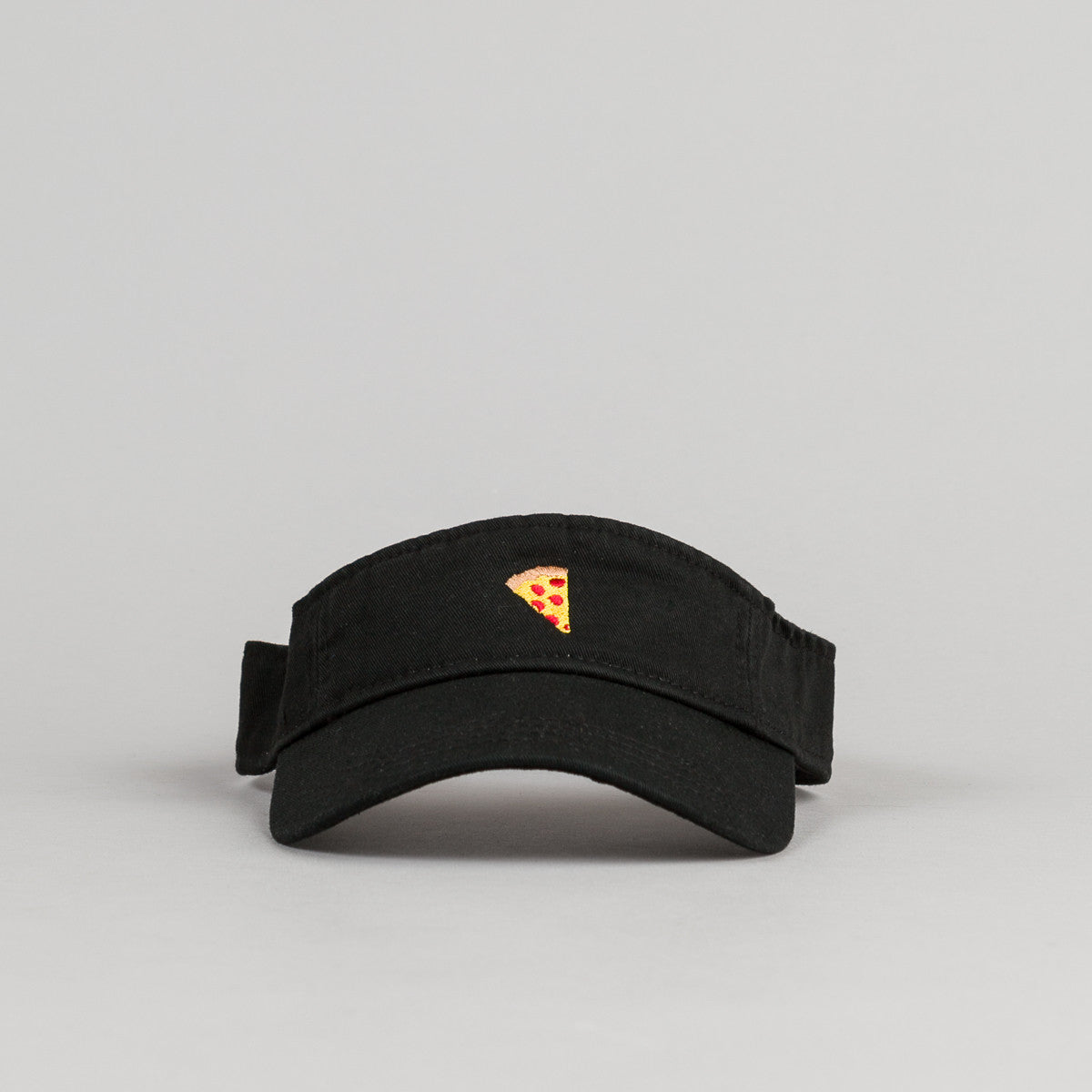 Pizza Skateboards Emoji Visor Cap - Black