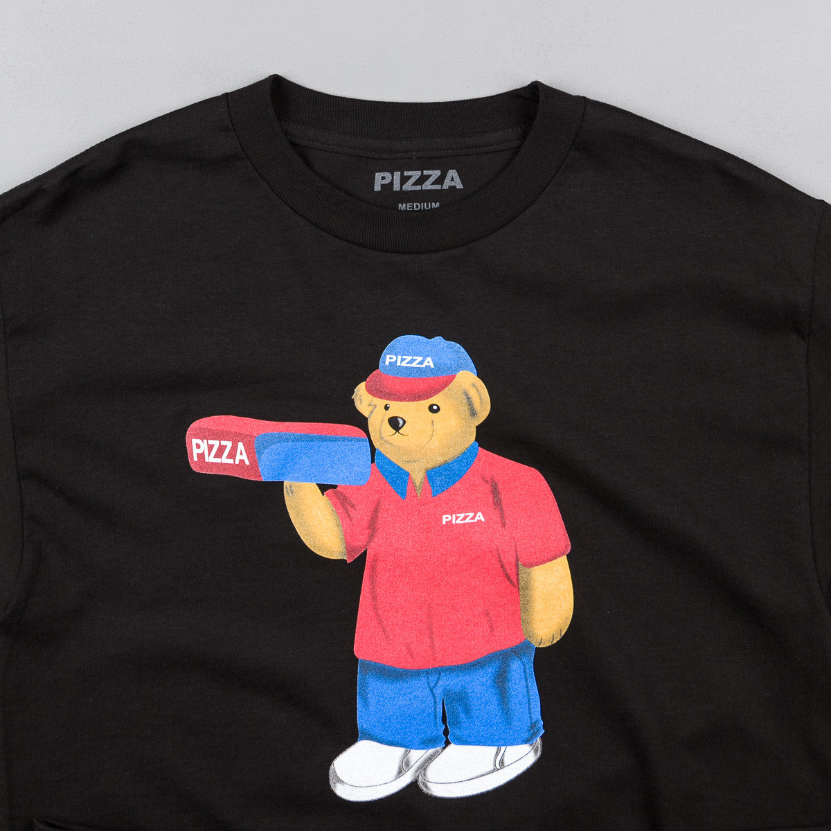 Pizza Skateboards Pizza Bear T-Shirt - Black