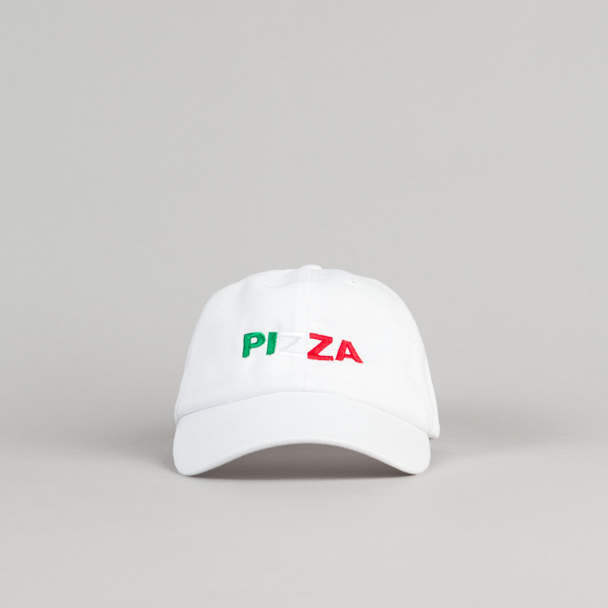 Pizza Skateboards Tri Colour Delivery Boy Cap - White