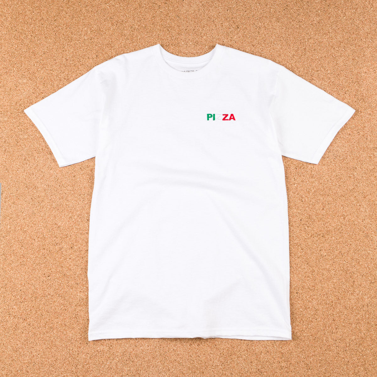 Pizza Skateboards Tri Colour Logo T-Shirt - White