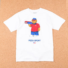 Pizza Skateboards Pizza Bear T-Shirt - White