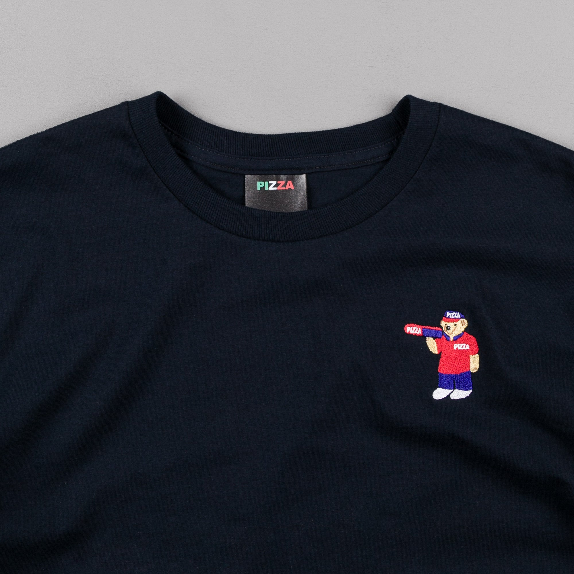 Pizza Skateboards Bear T-Shirt - Navy