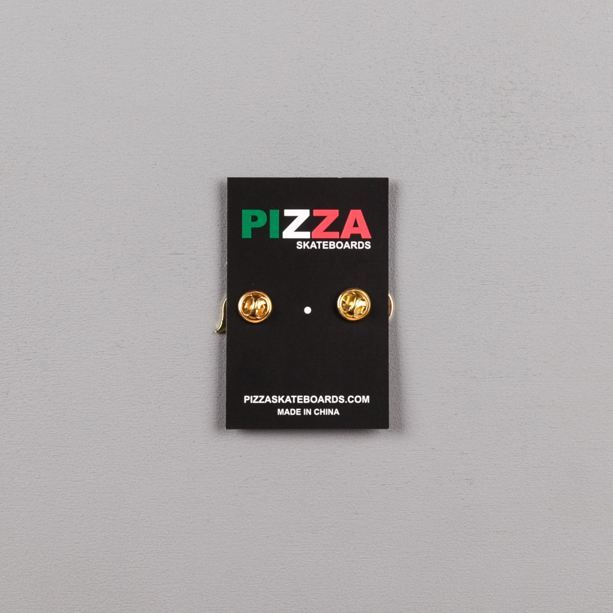 Pizza Skateboards Emoji Pin Badge - Blue
