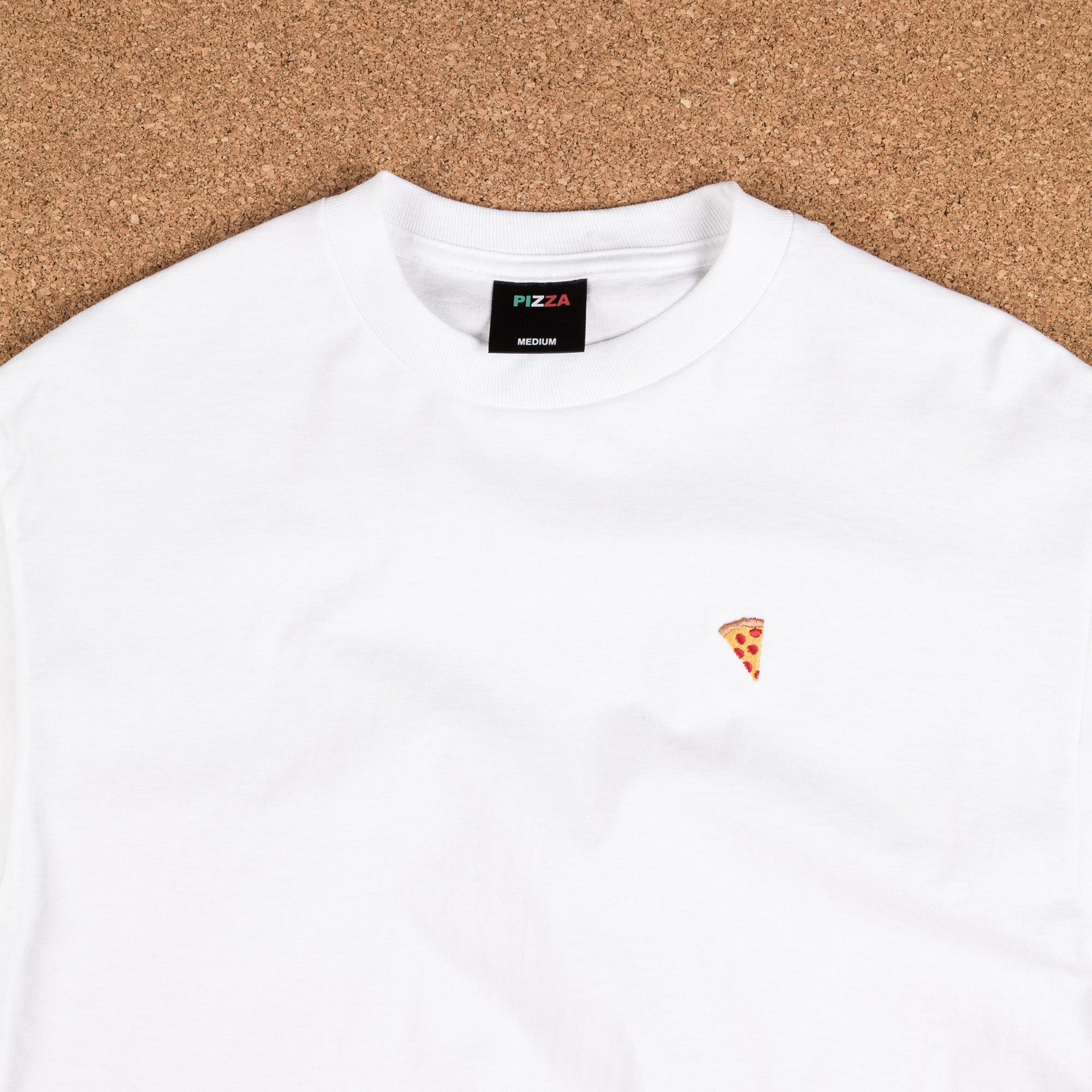 Pizza Skateboards Emoji Long Sleeve T-Shirt - White