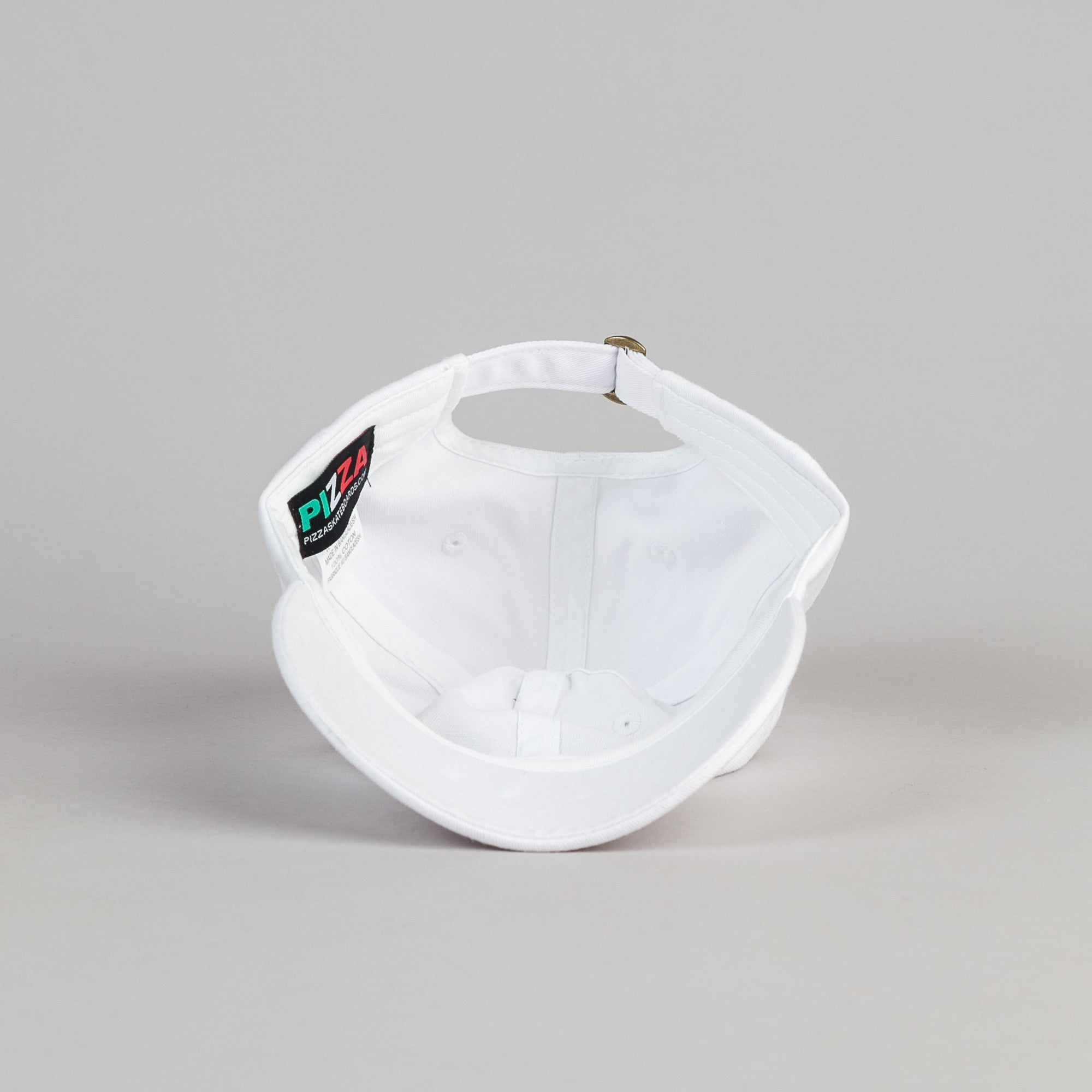 Pizza Skateboards PizzaPal Delivery Boy Cap - White