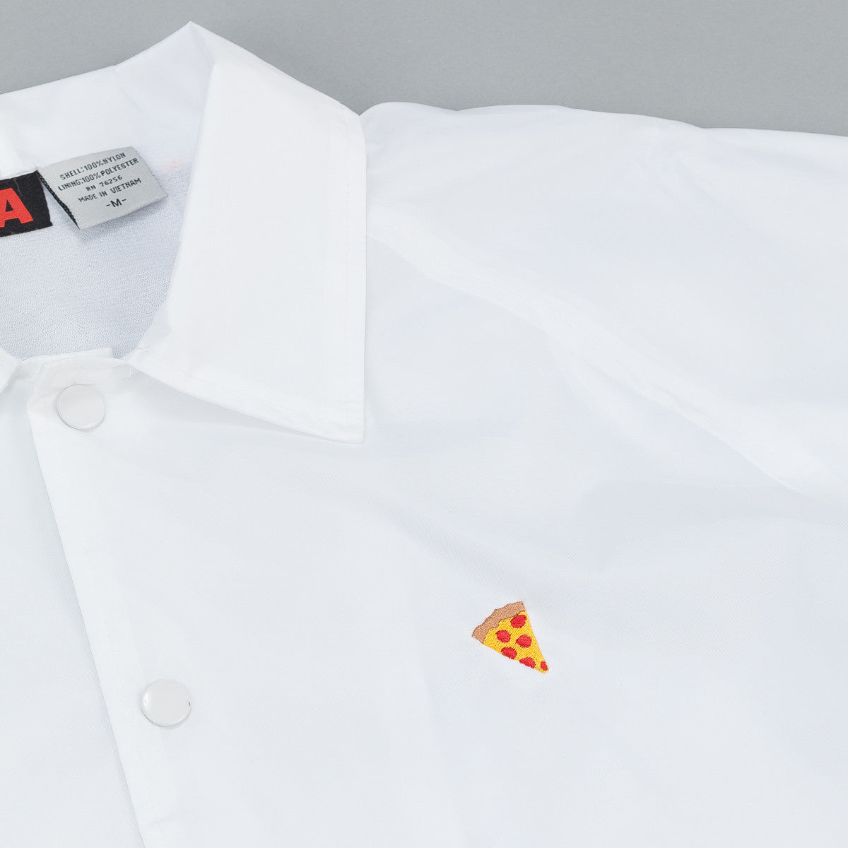 Pizza Skateboards Emoji Coaches Jacket - White