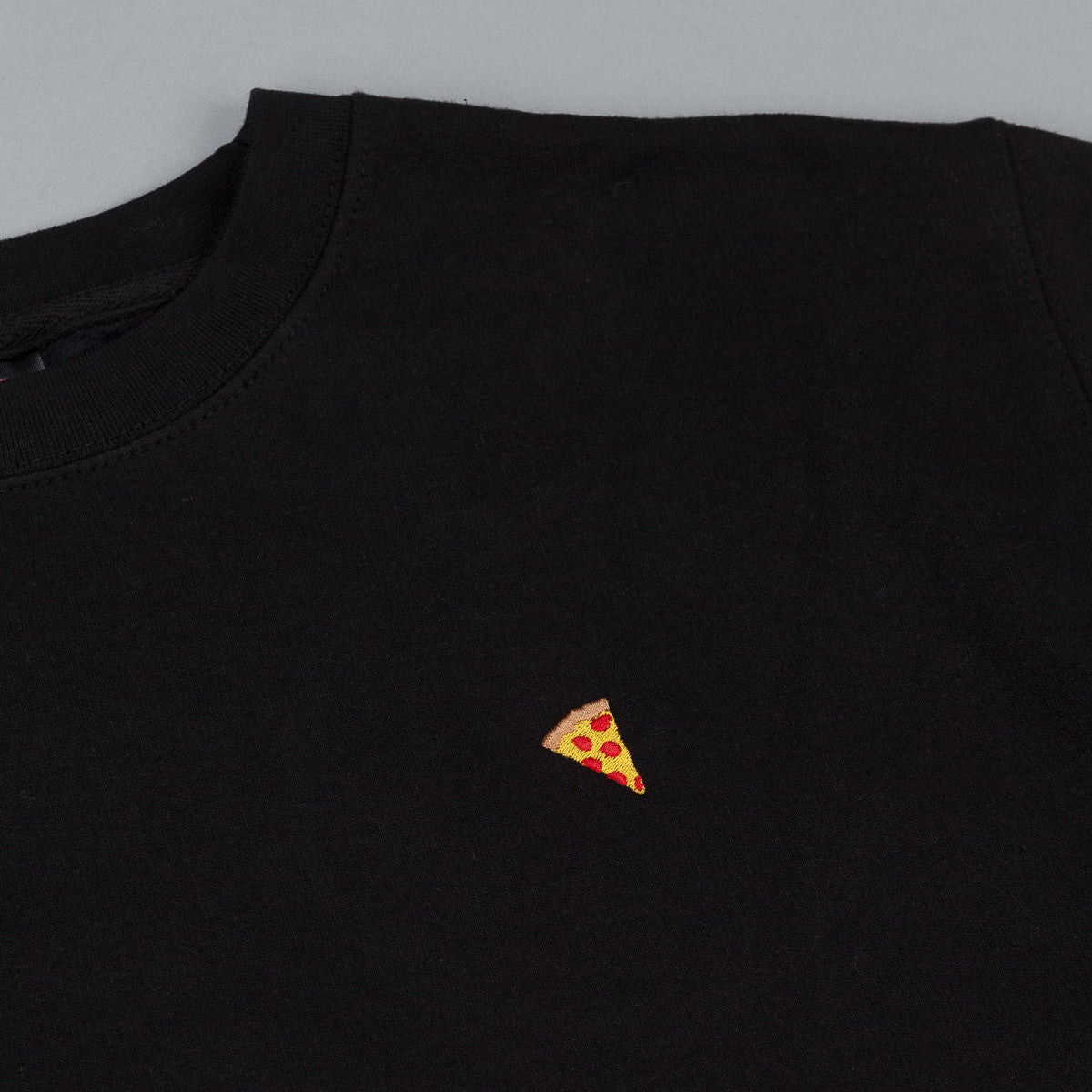 Pizza Skateboards Emoji Crew Neck Sweatshirt - Black