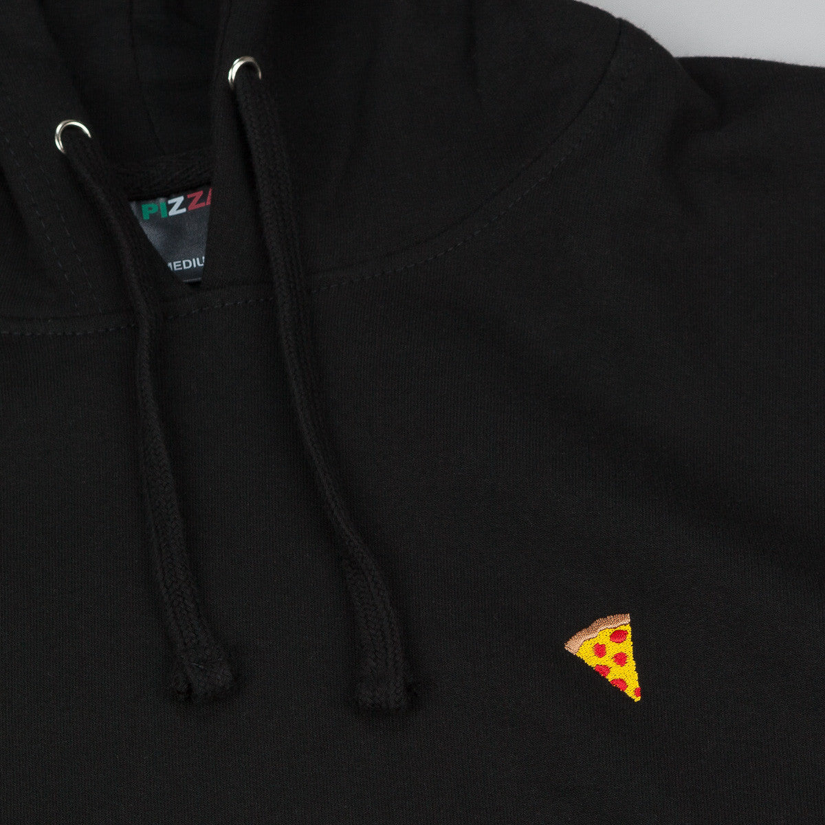 Pizza Skateboards Emoji Logo Hooded Sweatshirt - Black