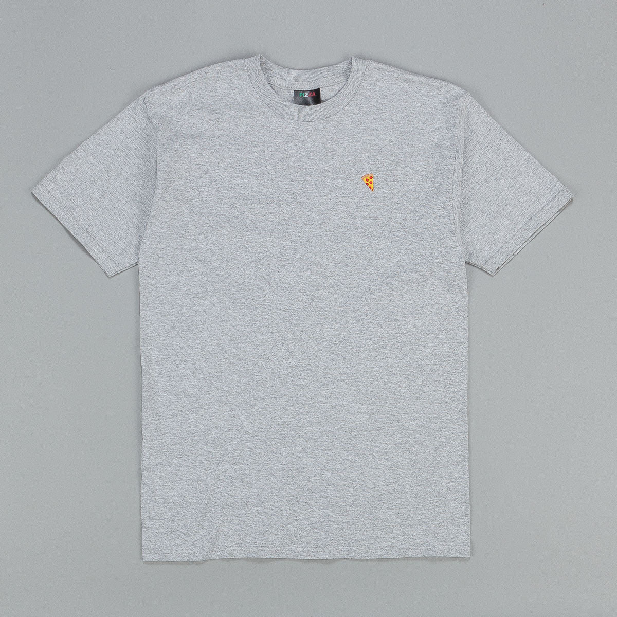 Pizza Skateboards Emoji T-Shirt - Ash Grey