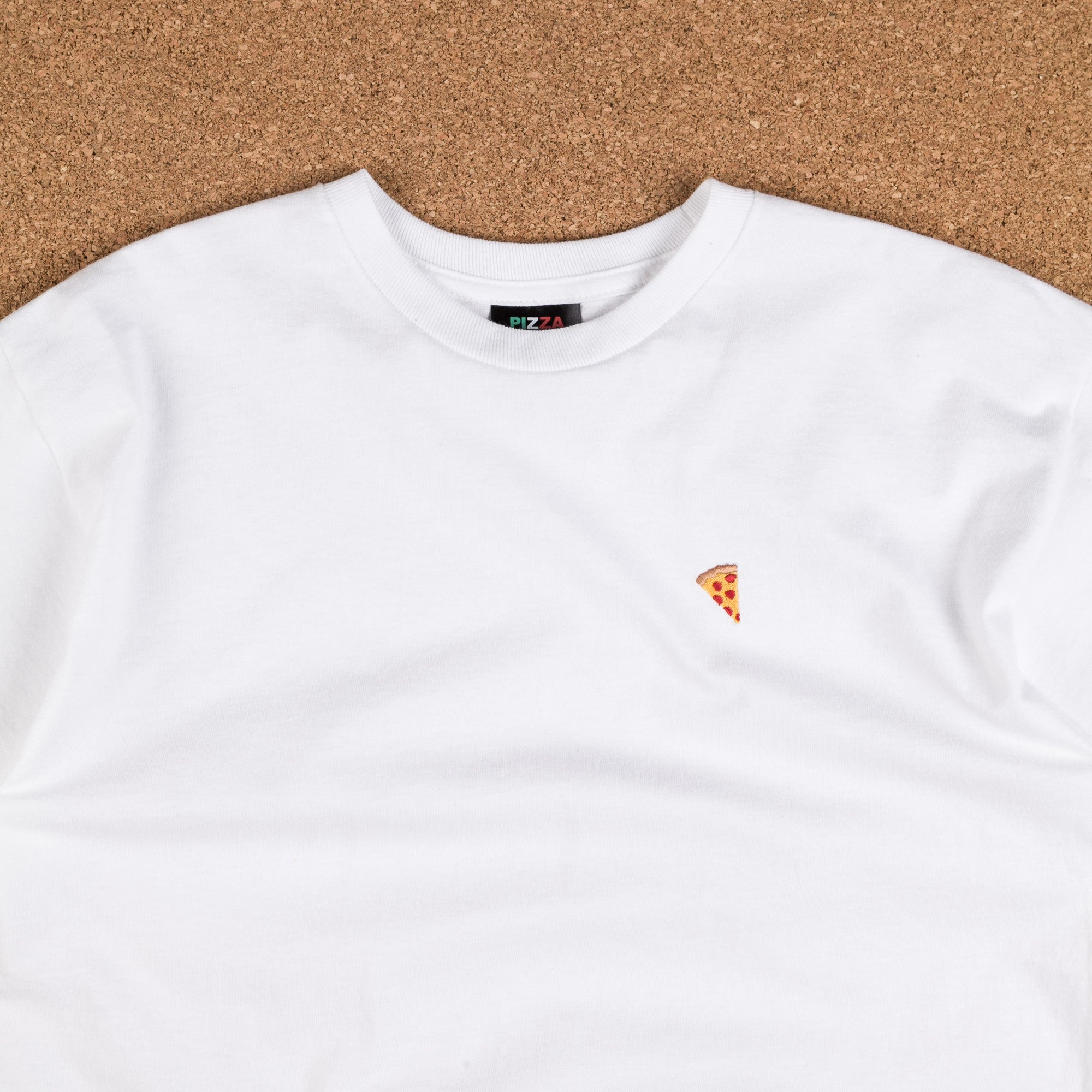 Pizza Skateboards Emoji T-Shirt - White