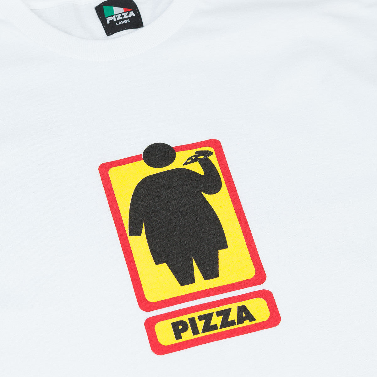 Pizza Skateboards Fat Girl T-Shirt - White