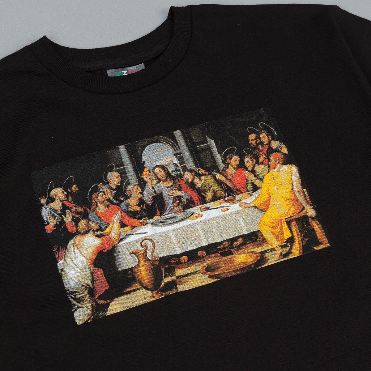 Pizza Skateboards Last Supper T Shirt - Black