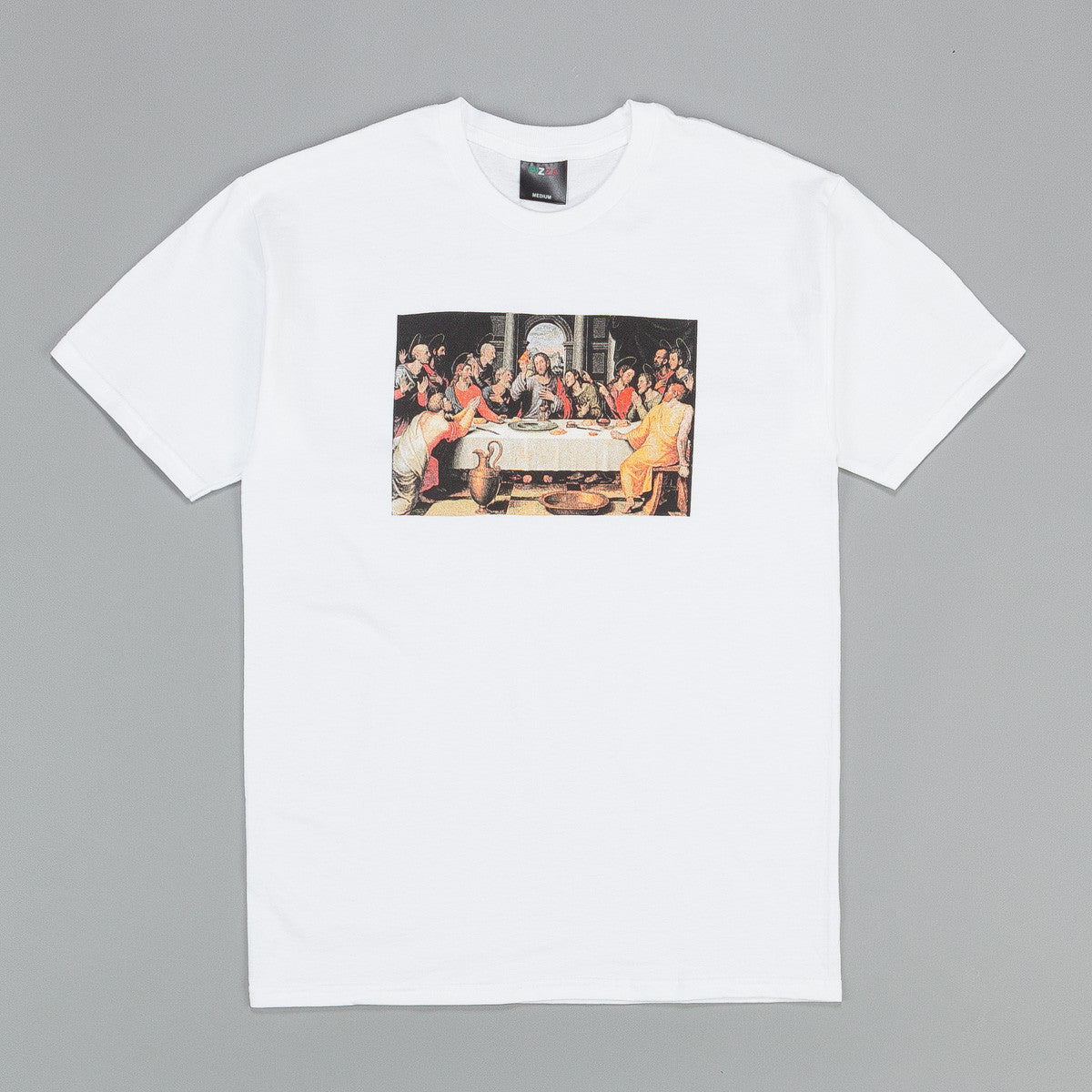 Pizza Skateboards Last Supper T Shirt - White