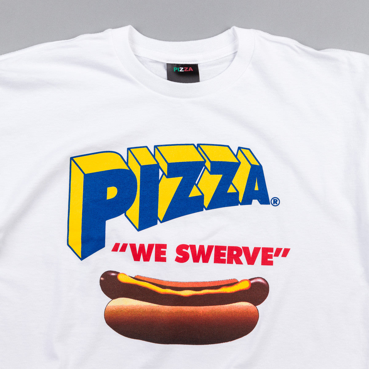 Pizza Skateboards Swerve T-Shirt - White