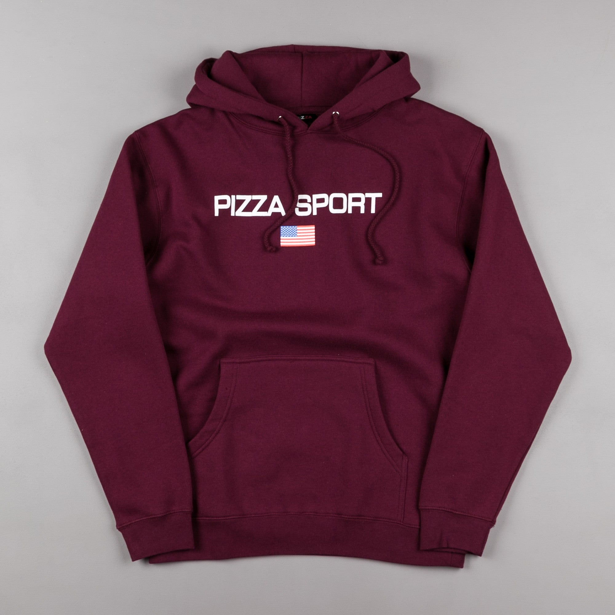 Pizza Skateboards Pizza Sport Hooded Sweatshirt - Burgundy